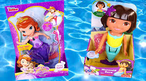 mermaids sofia the first color changing dora the explorer