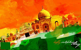 National Flags With Orange National Flag With Animated Tajmahal Hd Pics Free Download