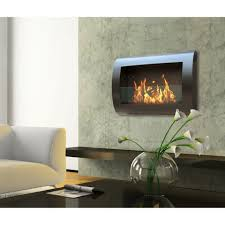 wall mounted contemporary gas fireplace with modern anywhere