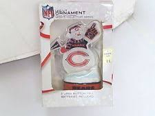 led lit ornament snowman chicago bears nfl licensed sports