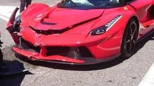 laferrari crash laferrari facelifted by a volkswagen golf in monaco