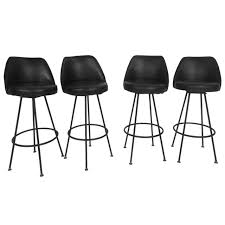 four mid century modern bar stools by admiral chrome corporation