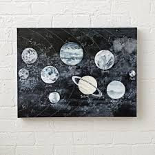 watercolor solar system space wall art the land of nod