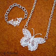 butterfly jewelry necklace images Make your own lace butterfly jewelry jpg