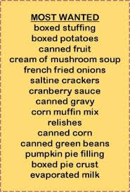 thanksgiving food donation list 100 images annual food drive