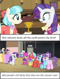 Unicorn Meme - unicorn master race my little pony friendship is magic know