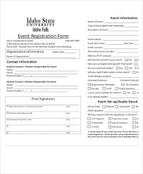 registration form template template examples