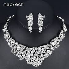 prom necklace mecresh butterfly bridal jewelry sets gorgeous
