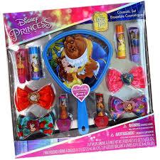 disney princess beauty and the beast lip gloss and nail polish