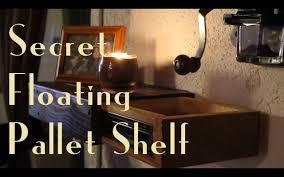 secret floating pallet shelf youtube