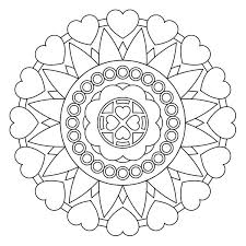 collection solutions printable simple heart mandala coloring