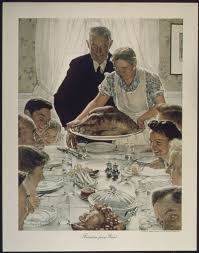 what was served at the first thanksgiving meal freedom from want painting wikipedia