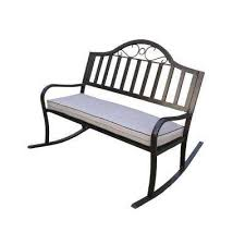 Patio Bench Cushion by Cast Iron Outdoor Benches Patio Chairs The Home Depot