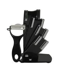 kitchen knives holder black ceramic knife block for ceramic knives set holder elegant