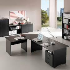 bureau retour bureau compact 160x80 100 cm retour à gauche noir frêne mobilier