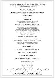 Wedding Program Outline Template Wedding Agenda Sample Wedding Program Wording Ideas U0026 Templates