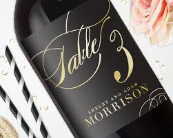 wedding table number wine labels wedding wine labels gold foil