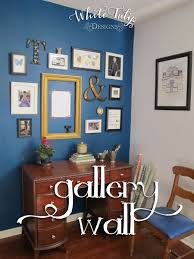 gallery wall white tulip designs