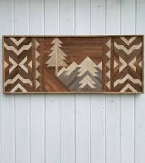 geometric wood wall reclaimed wood wall mountains geometric in downtown west