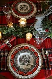 Christmas Table Decorating Rustic by Best 25 Tartan Christmas Ideas On Pinterest Tartan Throws