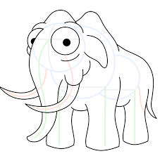 how to draw a wooly mammoth cartoon drawing lesson