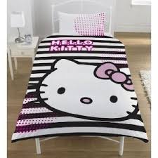 Hello Kitty Duvet Childrens Kids Hello Kitty Quilt Duvet Cover Bedding Set Single