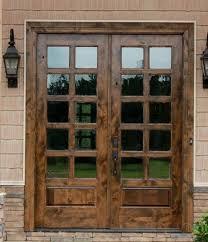 Back Exterior Doors Knotty Alder 3 4 Glass Exterior Doors Patio Doors 72 X 80 With