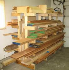 Building Wood Shelves Garage by Best 25 Lumber Storage Rack Ideas On Pinterest Wood Storage
