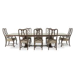 Oak Dining Room Table Chairs by A R T Furniture Firenze Ii Dark Oak Nine Piece Trestle Dining
