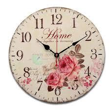 horloge cuisine 34cm horloge murale mdf vintage cuisine antique shabby chic