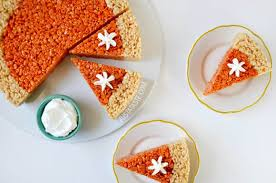 pumpkin pie rice krispies treats just a taste