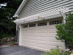 pergola over garage door google search garden pinterest