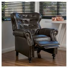 Brown Leather Recliner Walder Bonded Leather Recliner Club Chair Brown Christopher
