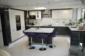 purple kitchen walls trendy purple and white gloss kitchen grey