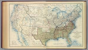 States Of Usa Map by Usa Dec 1863 David Rumsey Historical Map Collection