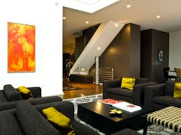 dark green sofa living room modern with coffee table wall art