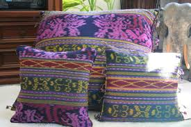 Purple Sofa Pillows by Berry Hand Woven Ikat Pillows 30 Inch Floor Pillows Or 16 Inch