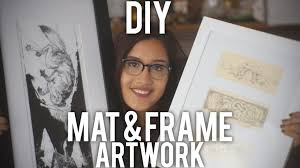 How To Frame A Print How To Mat And Frame Artwork Diy Youtube