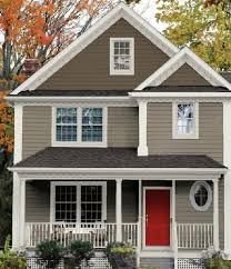 Brown Paint Colors For Exterior House - luxury small home traditional exterior wall paint color schemes