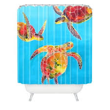 Orange And Blue Shower Curtain Buy Deny Designs Shower Curtains From Bed Bath U0026 Beyond