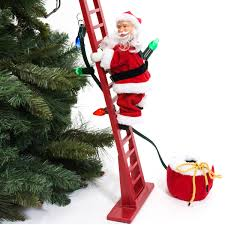 climbing santa tree decor collections holidays
