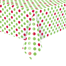 Elasticized Tablecloths Polka Dot Table Cover Party City Gallery Of Table