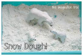snow dough recipe for winter sensory play the imagination tree