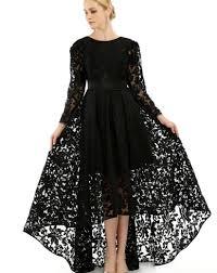 long black lace dress plus size pluslook eu collection