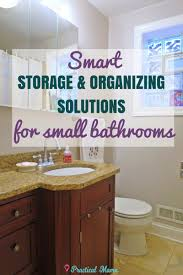 smart storage and organization ideas for small bathrooms