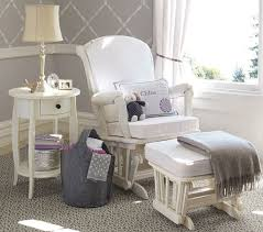 Nursery Room Rocking Chairs Glider Chair With White Painted Frame To Fit With The Rest Of The