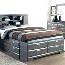 bed frame with bookcase headboard incredible full size bed frame