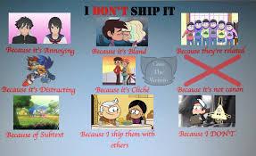 I Ship It Meme - i don t ship it meme by camtheweirdo on deviantart