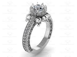 skull engagement rings milan 2 55ct white diamond white gold skull engagement ring