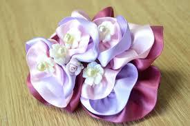 Flower Clips For Hair - diy ribbon flower hair clip 5 steps